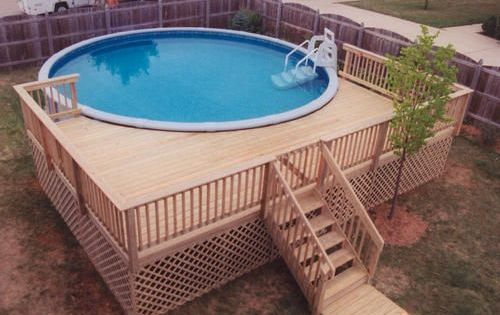 Pool Deck Designs For A 24 Round Above Ground |   -Plans/Deck