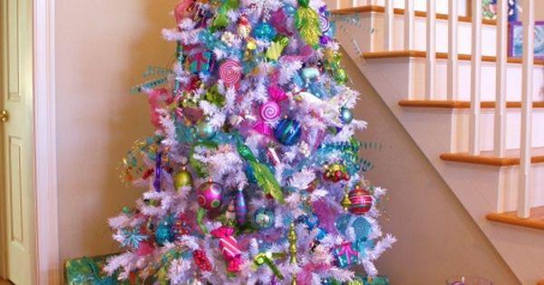 White Christmas Tree Adorned