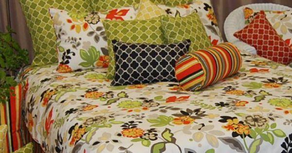 Floral Bedding Floral Bedding Funky Bedding Green Bedding