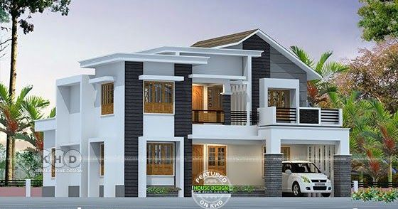 2357 Square Feet Mixed Roof Modern Home House Roof Design Kerala House Design Small House Elevation Design