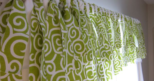 DIY: Easy No Sew window valance Inspired by Pottery Barn- cute for