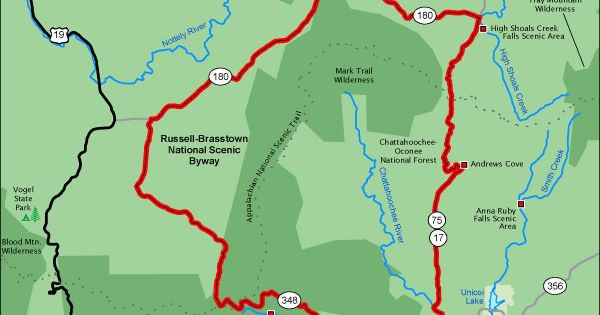Russell Brasstown National Scenic Byway Map America S
