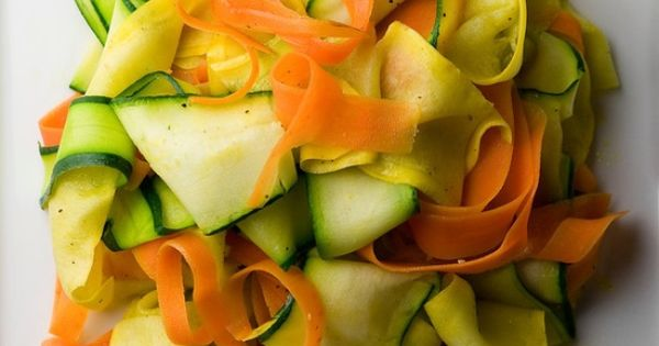 Summer Vegetable Ribbons Recipe — Dishmaps