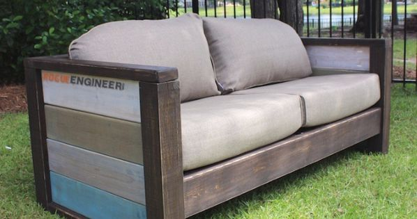 Diy Sofas And Couches Wood Plank Love Seat Easy