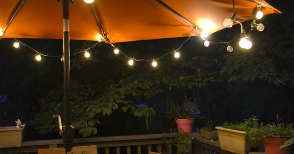 Battery Operated String Lights For Patio : Awesome Look Outdoor Globe String Lights Battery Operated On Patio Backyard Sunbrella For the ...