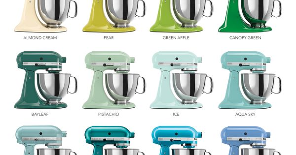 The Colorful World of KitchenAid® Stand Mixers | An Infographic KitchenAid Infographic