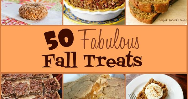 (lots of pumpkin recipes) 50 Fabulous Fall Treats from sixsistersstuff.com. Here are