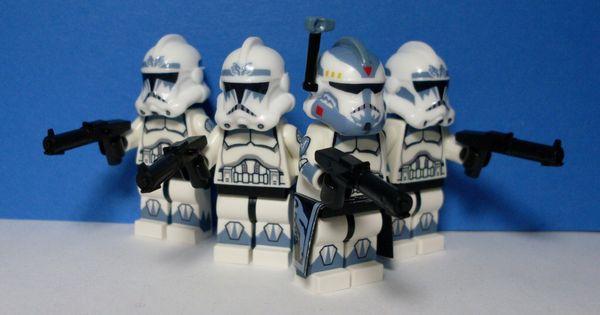 NEW Custom Lego WOLFPACK Clone Trooper Minifigure-360° Printed Body
