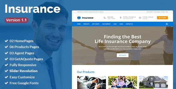 Insurance Insurance Agency Business Html5 Template By