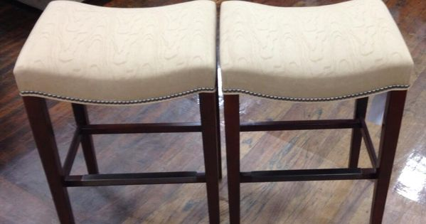 A Pair Of Madigan Bar Stools In Exclusive Laser Cut Faux