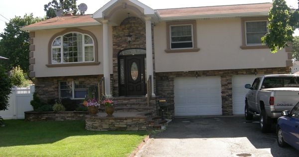 Exterior Stone Veneer Before And After Google Search Remodel My Homely Split Level