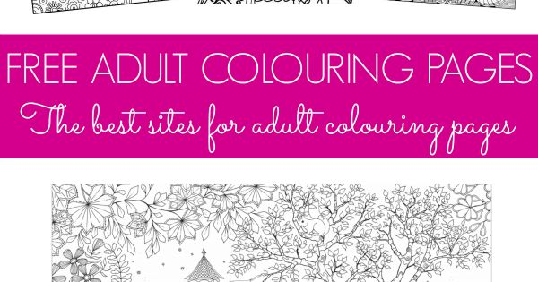 Free Colouring Pages For Adults And Teens Coloring In Has Been Proven To Reduce Stress In
