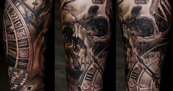 tattoo artist dmitriy samohin skull tattoos. Black Bedroom Furniture Sets. Home Design Ideas