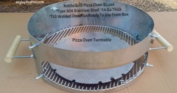 this kettle grill pizza oven is made from type 304 stainless steel 14 gauge thick 3 times the. Black Bedroom Furniture Sets. Home Design Ideas