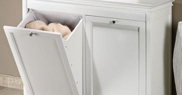 Home Decorators Collection Hampton Harbor 35 In Double Tilt Out Hamper In White More Best