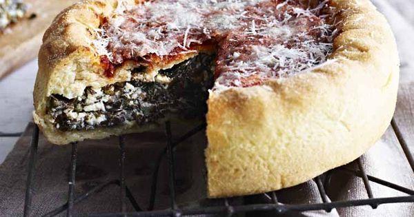 swiss chard pie | delish | Pinterest | Big Pizza, Deep Dish and Pizza