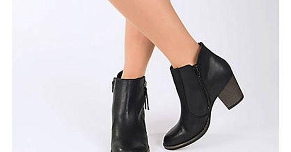 Czarne Botki Damskie Na Obcasie Graceland 1110186 Deichmann Com Ankle Boot Shoes Boots