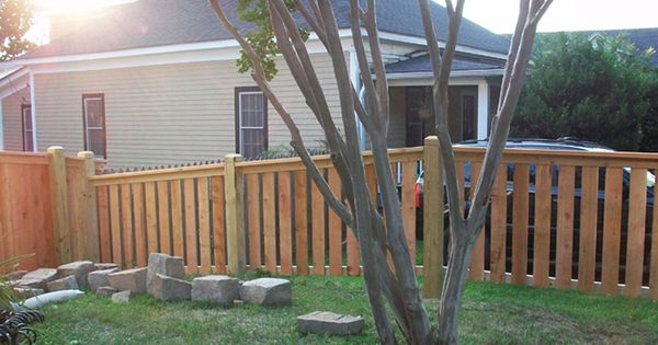 The Cloverhurst Wood Picket Fence Pictures Per Foot Pricing Ugly Yard Makeover