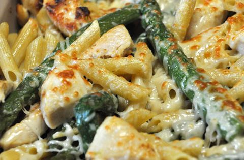 Chicken Asparagus Penne Pasta. I'm not keen on Asparagus but may like