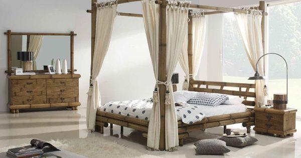 mobilier en bambou lit exotique mobilier sur enperdresonlapin bambous pinterest. Black Bedroom Furniture Sets. Home Design Ideas