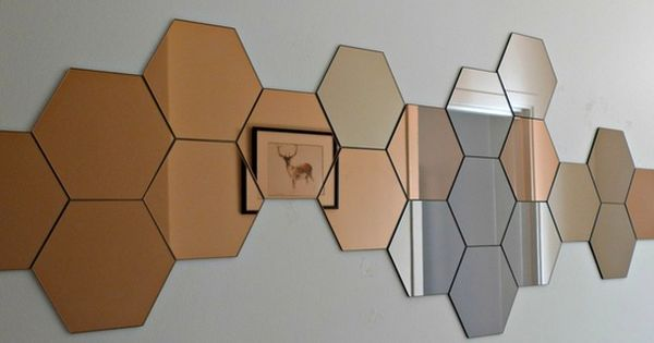 honeycomb mirror wall available at ikea home improvement ideas house home pinterest. Black Bedroom Furniture Sets. Home Design Ideas