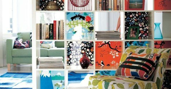 ikea expedit regal schublade aufbewahrung raumtrenner cover raumteiler ideen pinterest. Black Bedroom Furniture Sets. Home Design Ideas
