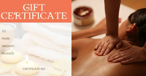 massage gift certificate template healing arts