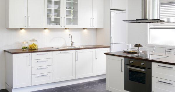 Kj kken komfort shaker hvit kj kkendr mmer pinterest - Credence keuken wit ...