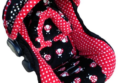 Girly Car Seat Covers: Image Detail For -Black And Red Ladybugs Infant Car Seat