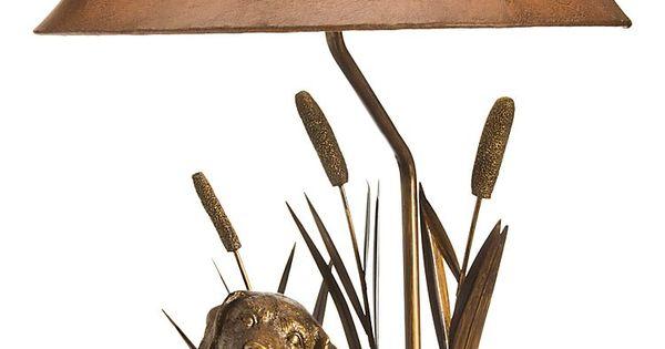dog with decoy table lamp bass pro shops tws pinterest shops. Black Bedroom Furniture Sets. Home Design Ideas