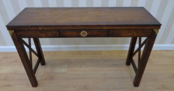 Laura Ashley Balmoral Extending Console Table In Dark Chestnut Qa2404151759 Table Console Table Woodworking Cabinets