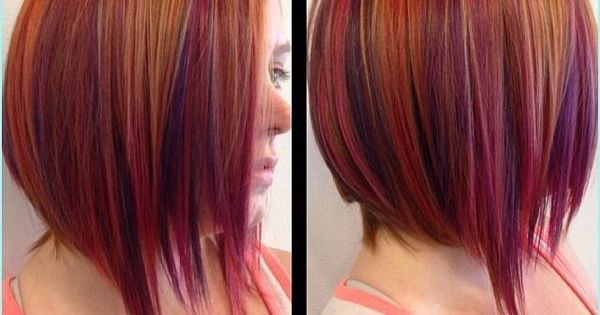 copper hair with purple highlights  Google Search  hair styles  Pinterest  Dark, Copper and