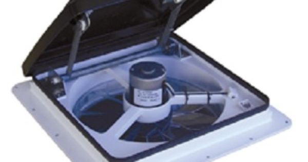 Maxxair Roof Top 12 Volt Fan Vent With Remote Fan
