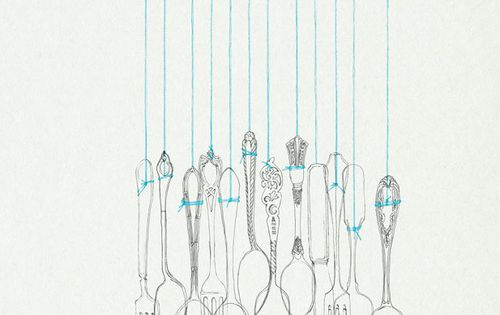 Spoon line illustration. I'm thinking I could make one of these. Drill