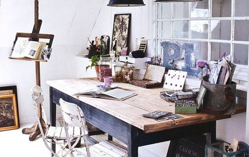 boho. bohemian. studio . office. work zone. home. house. room.