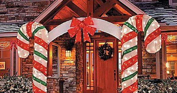 Knlstore 7 Ft Tall 3d Magical Unique Large Candy Cane