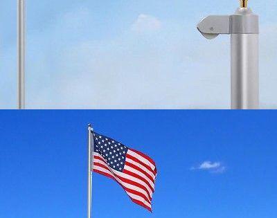 Details About 30ft Upgraded Flag Pole Sectional Aluminum Us Flag Top Ball Flagpole Kit Halyard Flag Pole Flag Pole