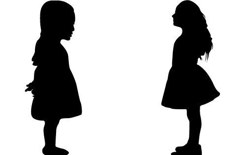 Silhouette Little Girl Standing   www.pixshark.com ...