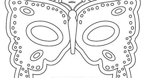 butterfly mask coloring pages | Butterfly mask template or coloring craft sheet | Kids ...