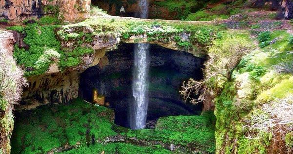 Baatara Gorge Waterfall, Lebanon...landscapes photography scenery beautifulplaces
