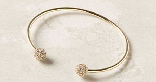 i want this pave pompom cuff from anthropologie in every color