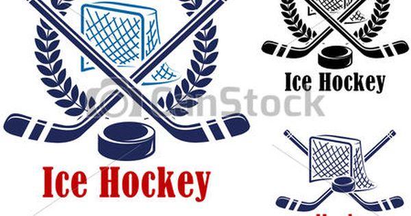 Vector Ice Hockey Symbol Stock Illustration Royalty Free Illustrations Stock Clip Art Icon Stock Clipart Icons Logo Line Hockey Ice Hockey Vector Free