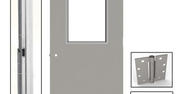 L I F Industries 36 In X 84 In Gray Flush Steel Vision Light Commercial Door Unit With Hardware Ukhg3684l Steel Doors Steel Wired Glass
