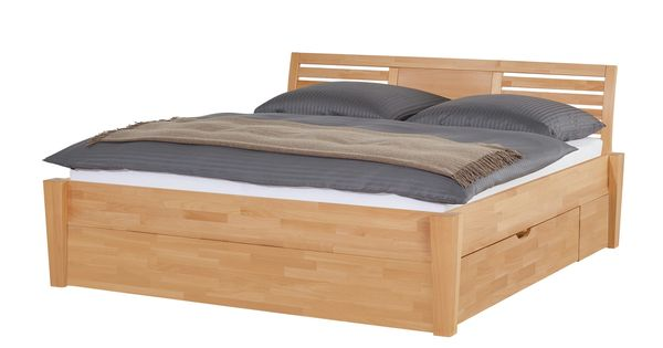 Massivholz-Bettgestell mit Bettkasten Timber 1000u20ac Bett Pinterest - schlafzimmer dänisches bettenlager