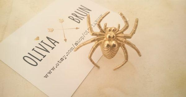 Large Spider Adjustable Ring Gold Spider Ring Large Ring