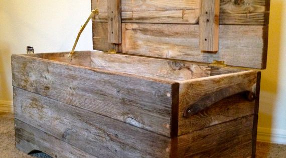 Reclaimed Barn Wood Storage Bench I Could Probably Make