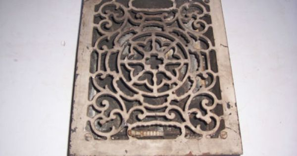 Antique Cast Iron Wall Vent Air Register Heat Grate