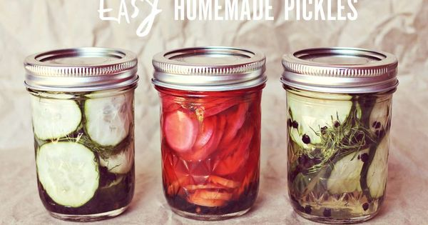 A Beautiful Mess / Easy Homemade Pickles Recipe