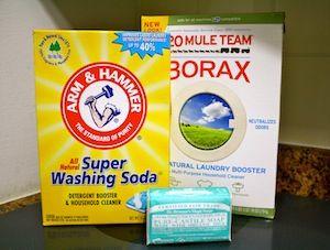 Powder Detergent 1 Finely Grated Bar Of Castile Soap Or Fels