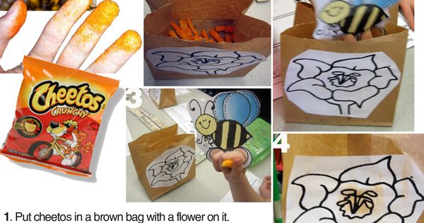 Cheetos Pollination experiment. This is a neat way to teach pollination!